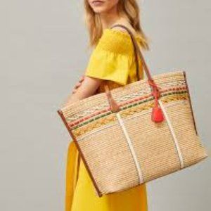 Tory Burch🌼NEW🌼Perry straw oversized tote